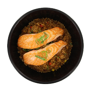 Foto Grilled salmon rice